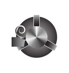 lathe in the processing of metal parts vector image