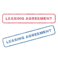 Leasing agreement textile stamps vector
