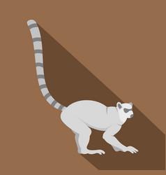 Lemur icon flat style vector