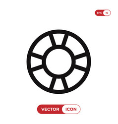 lifesaver icon vector image