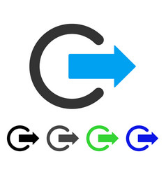 Logout flat icon vector