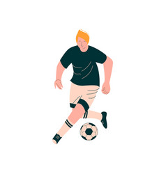 male soccer player male footballer character in vector image