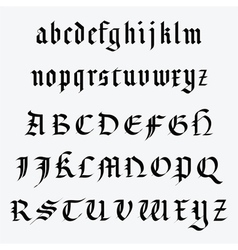 Medieval alphabet vector image