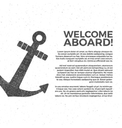 Nautical banner Design Sailor poster vector