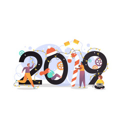 new year 2019 concept for web banner vector image