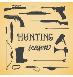 Objects for hunting weapons vector image