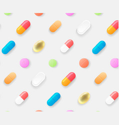 pharmasy colorful pills blisters with tablet vector image