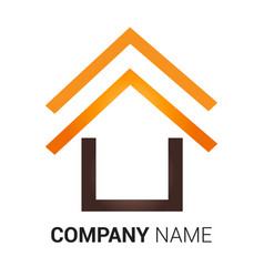 real estate and building home logo design template vector image