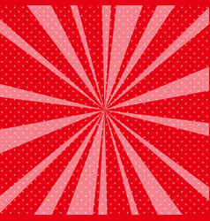 Red pop art retro background with sunbeams vector