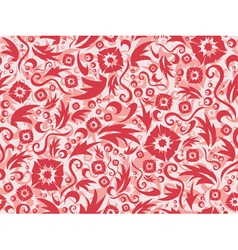red seamless flower pattern vector image