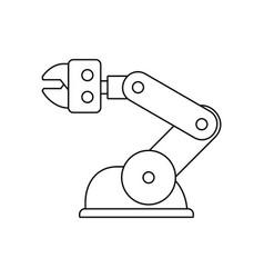 robotic arm vector image