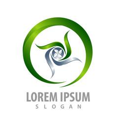 rotate circle leaf concept design symbol graphic vector image