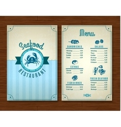Seafood Menu Template vector