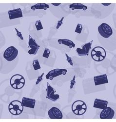 Seamless background on automotive topics vector