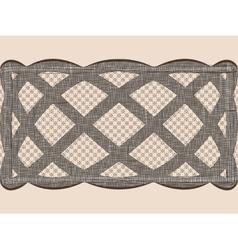 Seamless lace dark ribbon vector