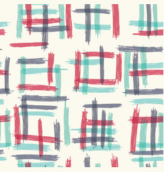 Seamless pattern design with sloppy doodle stripe vector