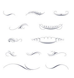 Set of decorative pen strokes vector