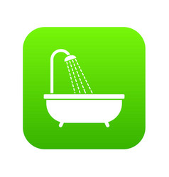 shower icon digital green vector image