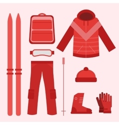 Ski infographics elements vector image