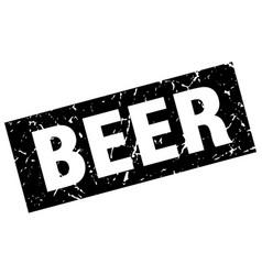 Square grunge black beer stamp vector