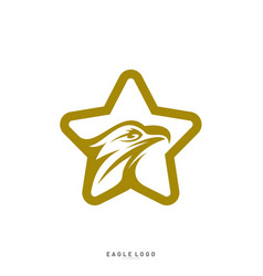 star eagle logo template eagle logo with stars vector image