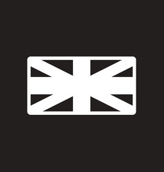 Stylish black and white icon british flag vector