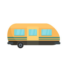 Summer camp trailer icon flat style vector