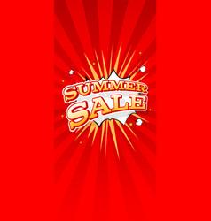 summer sale vertical banner typography design vector image