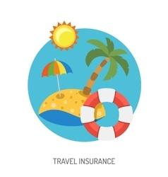 Travel Insurance Flat Icon vector image