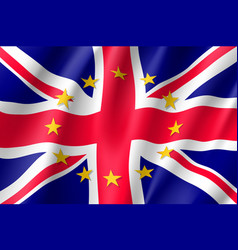 united kingdom national flag with a star circle of vector image