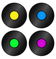 vynil recors vector image