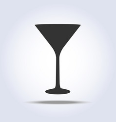 Wineglass martini glass icon object on gray vector