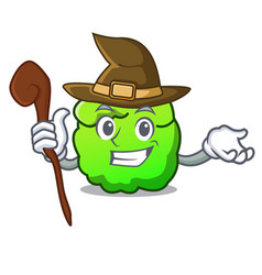 Witch shrub mascot cartoon style vector