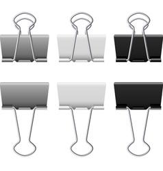 Binders clips vector image vector image