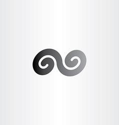 Black infinity spiral symbol sign icon vector