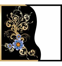 gold floral design vector image vector image