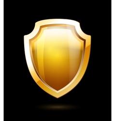 Gold shield vector