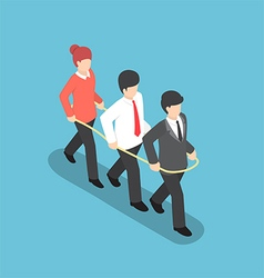 Isometric business people walking forward together vector image vector image