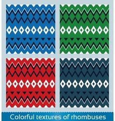 Seamless abstract rhombus pattern vector image vector image