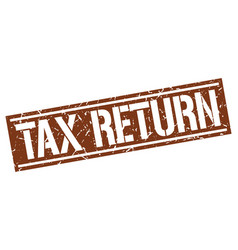 Tax return square grunge stamp vector