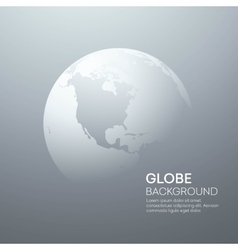 Background with Planet Earth Globe vector image vector image