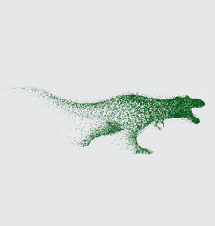 blurred motion of tyrannosaur vector image vector image