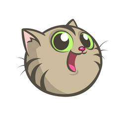 cartoon image of a gray cat vector image vector image