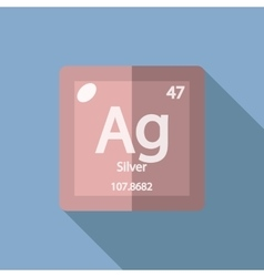 Chemical element Silver Flat vector image vector image