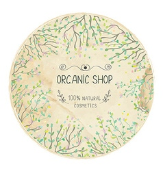 Eco shop natural label design with trees vector image vector image