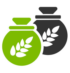 grain harvest sacks flat icon vector image