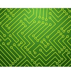 Green and Yellow Printed Circuit Board vector image vector image