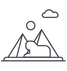 pyramidsegypt line icon sign vector image