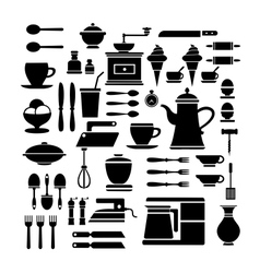 A set of cafe vector image vector image