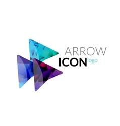 arrow logo icon Business arrow concept vector image